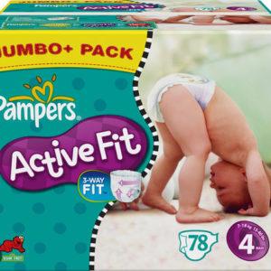 Afbeelding van Pampers Active Fit - Luiers Maat 4 - Jumbo Pack plus 78st