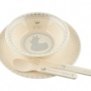 Afbeelding van BamBam - Kinderservies 'Royal Dinner' - Wit