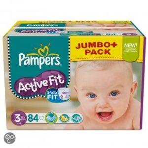 Afbeelding van Pampers Active Fit - Luiers Maat 3 - Jumbo Pack Midi Plus 84st