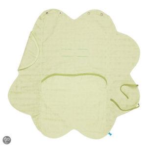Afbeelding van Wallaboo - Baby wrapper hydrofiel katoen - Groen