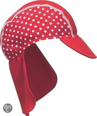 Afbeelding van Play Shoes - Zwemveiligheid Badmutsje Dots - Rood - 51cm