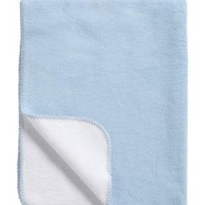 Afbeelding van Meyco - Dekentje Ledikant 2-zijdig 150x120 cm - Lichtblauw/Wit
