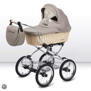 Afbeelding van Babyactive Balllerina W1 - ouderwetse kinderwagen - Beige