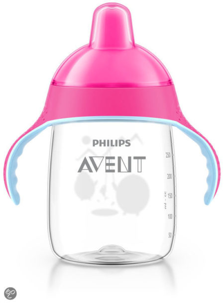 Afbeelding van Philips Avent - Beker met drinktuit SCF755/07 - 340 ml - Roze