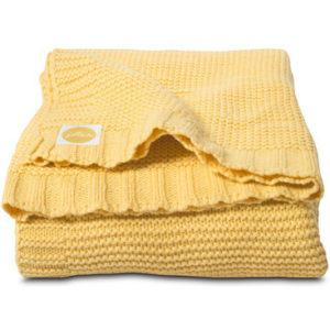 Afbeelding van Deken 100x150cm Chunky knit yellow