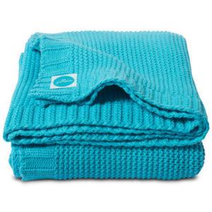 Afbeelding van Deken 100x150cm Chunky knit aqua