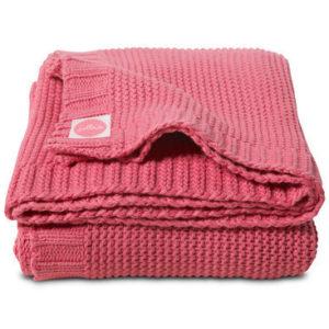 Afbeelding van Deken 100x150cm Chunky knit raspberry