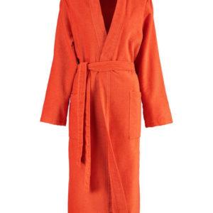 Afbeelding van Cawö dames badjas velours  oranje  maat 50