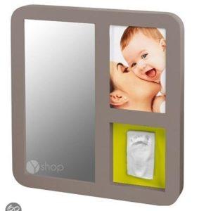 Afbeelding van Baby Art - Spiegel - Taupe & lime