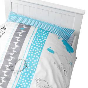 Afbeelding van Coming Kids Bedtime - Overtrek & Sloop 70x140 cm - Blauw