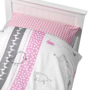 Afbeelding van Coming Kids Bedtime - Overtrek & Sloop 70x140/150 cm - Roze