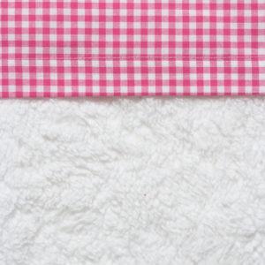 Afbeelding van Cottonbaby Boerenbont - Wieglaken 75x90 cm - Fuchsia
