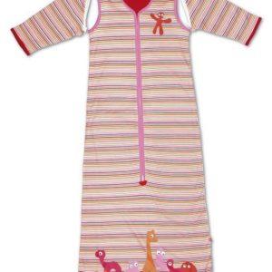 Afbeelding van Little Company - Solo Sleeper Stripe Babyslaapzak 80 cm - Roze