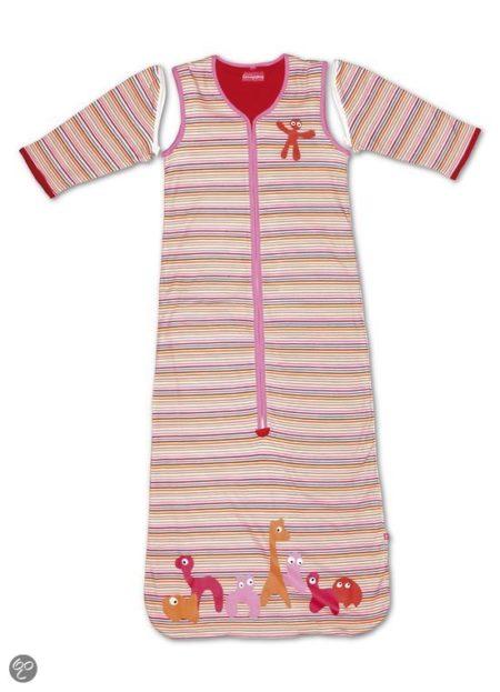 Afbeelding van Little Company - Solo Sleeper Stripe Babyslaapzak 110 cm - Roze