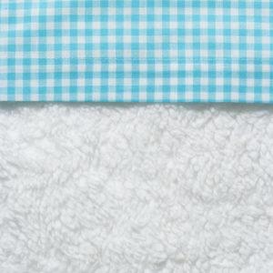 Afbeelding van Cottonbaby Boerenbont - Ledikantlaken 120x150 cm - Aqua