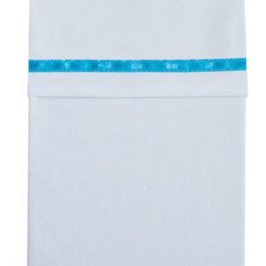 Afbeelding van Cottonbaby Bies - Ledikantlaken 120x150 cm - Aqua