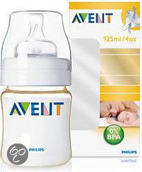 Afbeelding van Philips Avent SCF660/17 - Zuigfles 125 ml Pes Gold Incl Speen