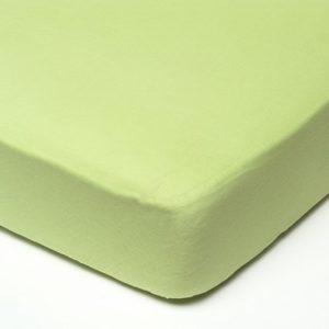 Afbeelding van Babsana - Hoeslaken Katoen 40x80 cm - Lime