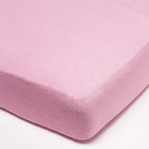 Afbeelding van Babsana - Hoeslaken Badstof 60x120 cm - Roze