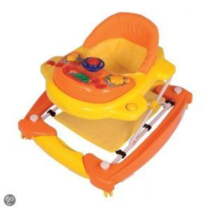 Afbeelding van Bannini - Loopstoeltje met Schommelfunctie - Oranje