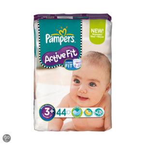 Afbeelding van Pampers Active Fit - Luiers Maat 3+ - Voordeelpak Midi Plus 44st