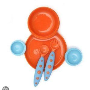 Afbeelding van Boon Groovy eetbordje bestek oranje