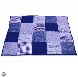 Afbeelding van Taftan - Boxkleed Ruitjes Patch - Donkerblauw