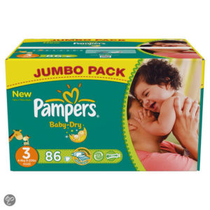 Afbeelding van Pampers Baby Dry - Luiers Maat 3 - Jumbo box plus 86st