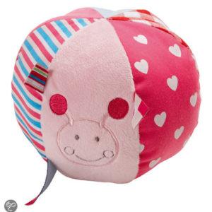 Afbeelding van bébé-jou - Speelbal Pluche ABC - Lichtroze