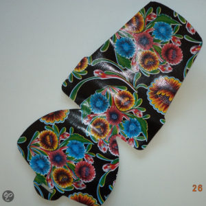 Afbeelding van Atelier Du Baj - Inlay voor Bobike Maxi+ - Floral Zwart