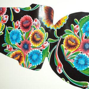 Afbeelding van Atelier Du Baj - Inlay voor Bobike Mini - Floral Zwart