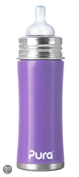 Afbeelding van Pura Kiki - Babyfles 325 ml (silicone natural vent nipple - speen) - Lavendel
