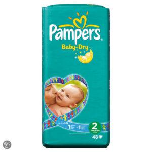 Afbeelding van Pampers Baby Dry - Luiers Maat 2 Midpak 48 stuks