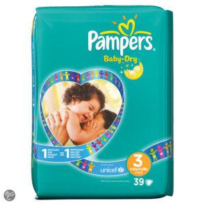 Afbeelding van Pampers Baby Dry - Luiers Maat 3 Midpak 39 stuks