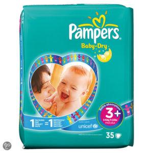 Afbeelding van Pampers Baby Dry - Luiers Maat 3+ Midpak 35 stuks