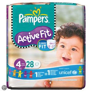 Afbeelding van Pampers Active Fit - Luiers Maat 4 Midpak 28 stuks