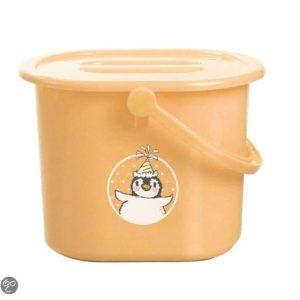 Afbeelding van bébé-jou - Luieremmer Pinguïn - Licht oranje