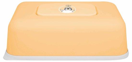 Afbeelding van bébé-jou - Easy Wipe Box Pinguïn - Licht oranje