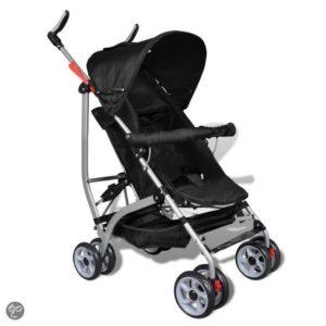 Afbeelding van vidaXL Kinderwagen Moderne kinderwagen zwart (5-standen)