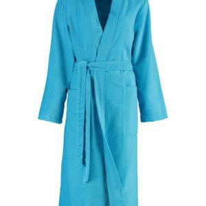 Afbeelding van Cawö dames badjas velours  turquoise  maat 40