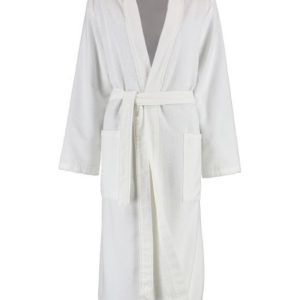 Afbeelding van Cawö dames badjas velours  wit  maat 42