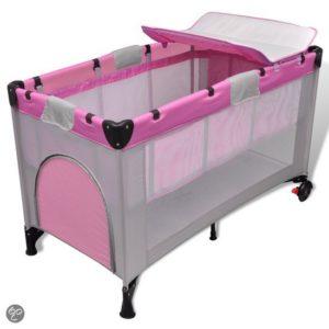 Afbeelding van Baby Box Opvouwbaar en Draagbaar Roze Reisbedje