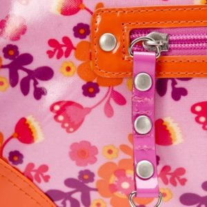 Afbeelding van Little Company - Today Glossy Luiertas - Oranje/Roze