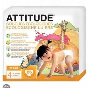 Afbeelding van Attitude luiers maxi 4 * 26 st