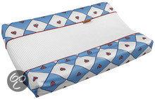 Afbeelding van Anel Babette Dieren - Aankleedkussenhoes badstof - Blauw/Wit
