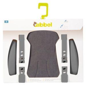 Afbeelding van Qibbel stylingset voorzitje Elements (grijs) - Fietsstoeltje