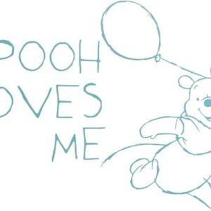 Afbeelding van Anel Pooh Fresh Mint - Muursticker middel - Wit/Grijs